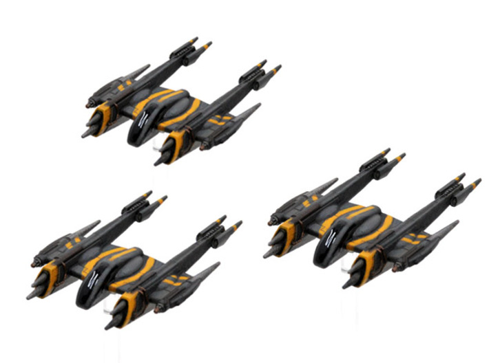 Rogue-class starfighter 3-pack 1/270 3d printed
