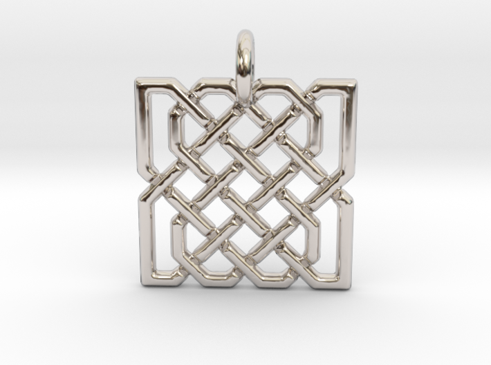 Two Hearts in Celtic Knot 3d printed