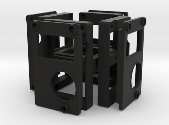 4-Camera Rig 3d printed