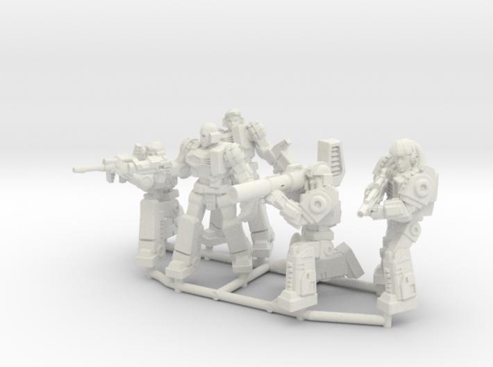 Diaclone Combat Squad, 5 35mm Minis 3d printed