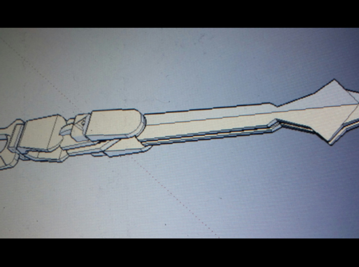 Voltron Sword Handle 3d printed The handle is on the left end of this image.