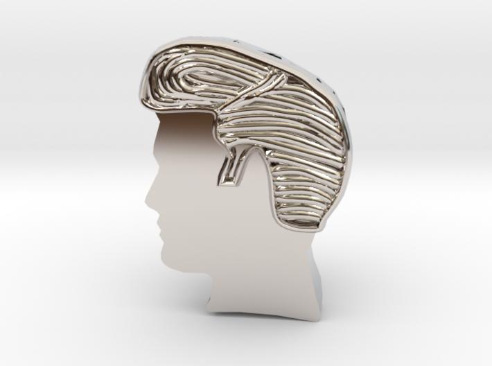 Rock Star Hairstyle- Bracelet charm 3d printed