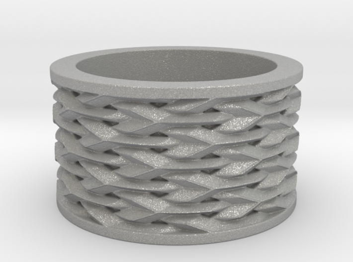 Basketweave Ring 3d printed