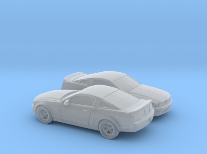1/160 2X 2007 Ford Mustang Stock Version 3d printed
