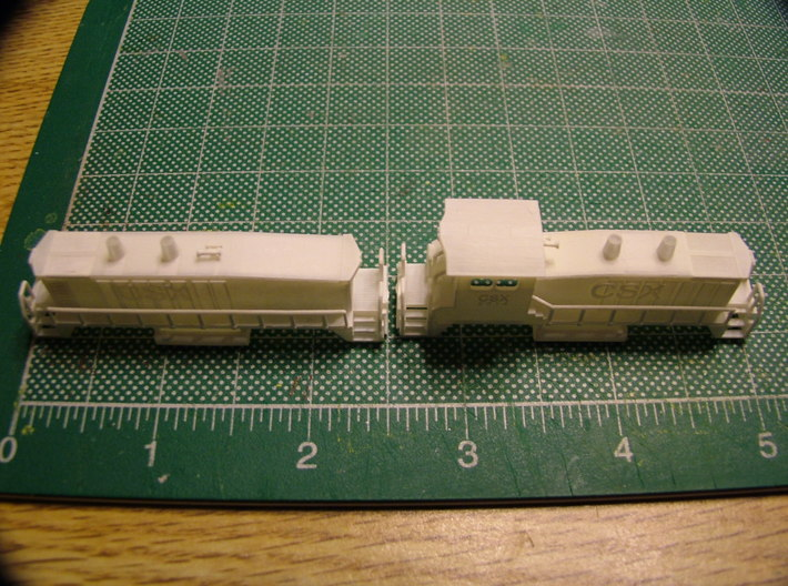 EMD SW1500 Switcher w/B unit 3d printed CSX EMD SW 1500 Engines