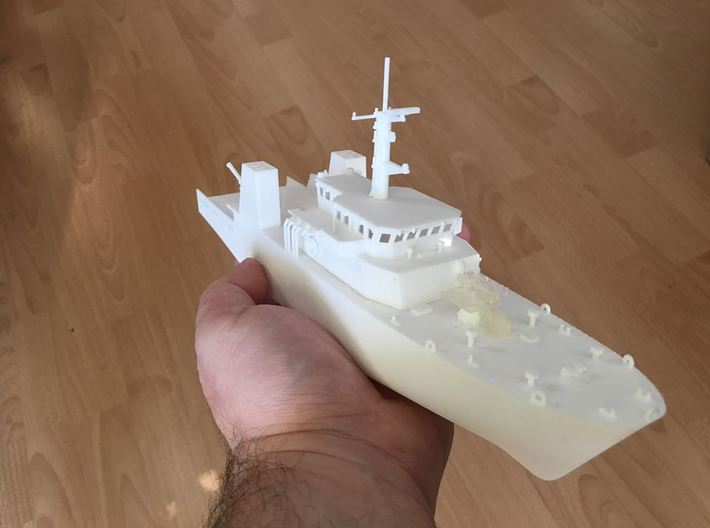 HMCS Kingston, Hull (1:200, RC) 3d printed basic model (hull, details 1 and details 2)