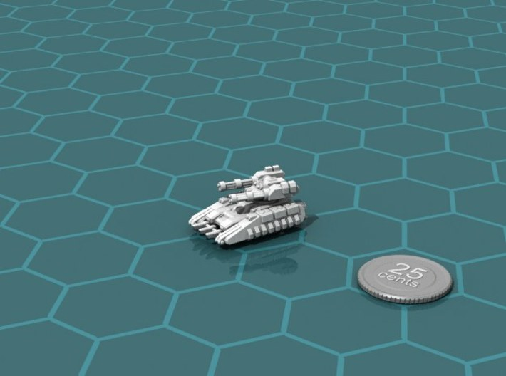 Buru Scout Tank 3d printed Render of the model, with a virtual quarter for scale.