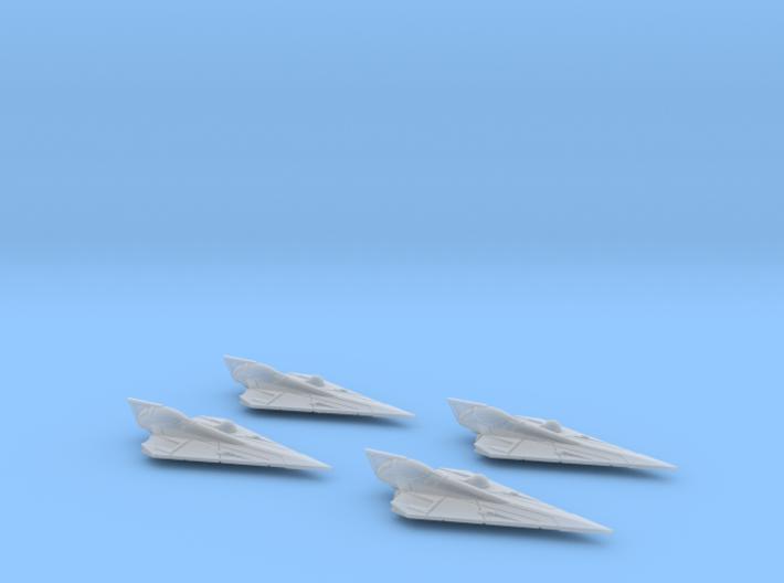 Delta-7 Offset Astromech 4 pack 1/270 3d printed
