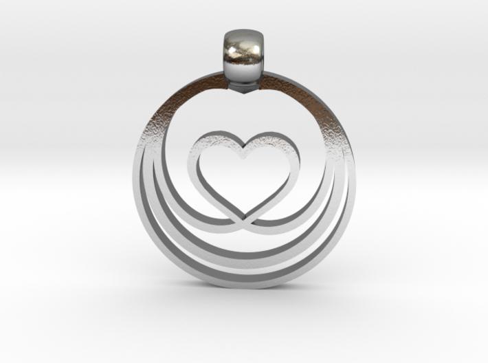 Waves of Love 3d printed
