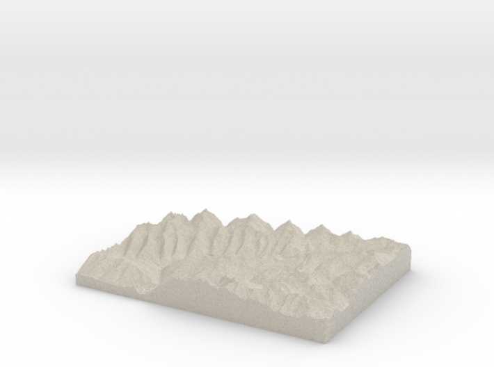 Model of Schönbergspitze 3d printed