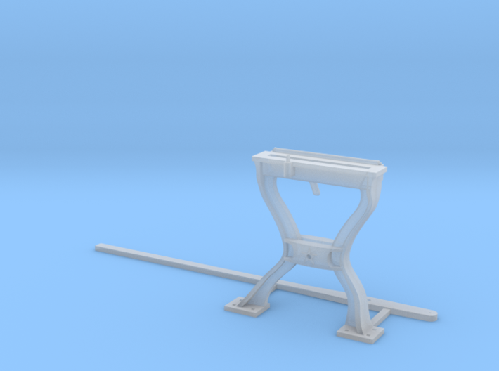 Harp Switch Stand - Flat top with 2 legs, O Scale 3d printed