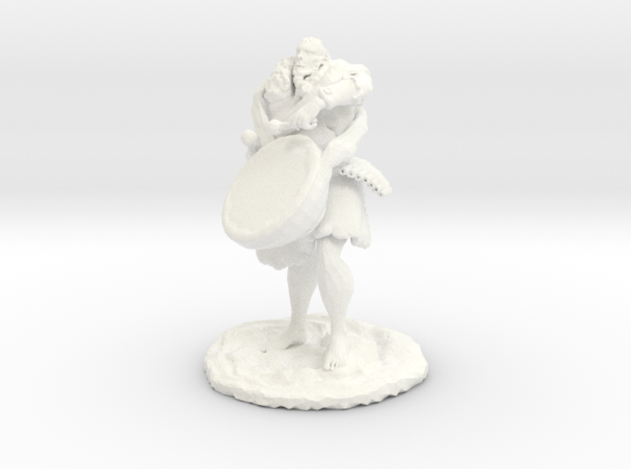 Ourok, Half-Orc Bard 3d printed Shapeways Render
