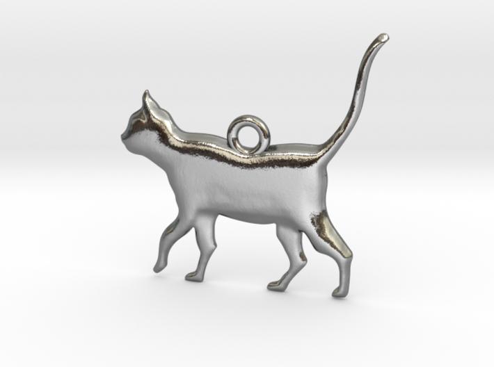 Schrödinger's Cat Pendant 3d printed