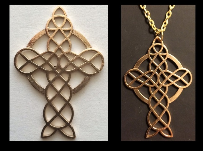 Knot Cross 3d printed