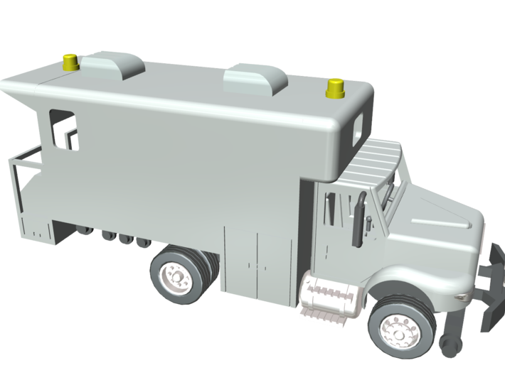 MOW Rail Detection Truck 1-87 HO Scale 3d printed