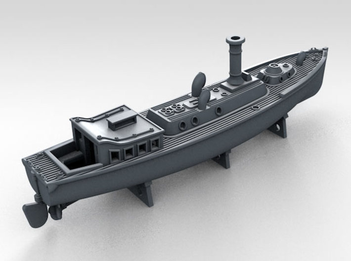 1/350 WW2 RN Boat Set 4 with Mounts 3d printed 50ft Steam Pinnace