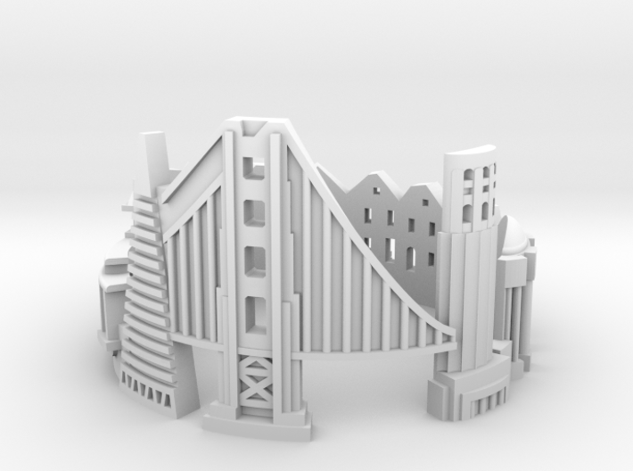 SanFrancisco 7,5 3d printed