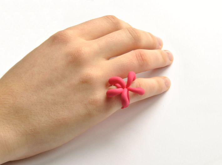Water Drops Ring (From $15) 3d printed Water Drops Ring Nylon
