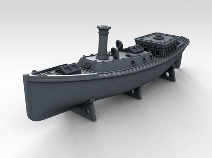 1/600 WW2 RN Boat Set 4 Without Mounts 3d printed 45ft Admirals Barge Mounts NOT Included