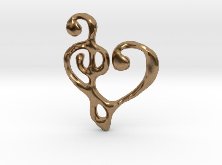 Music Heart Pendant 3d printed