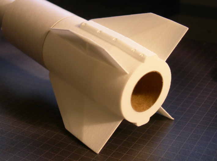 Patriot Missile BT60 Fin Unit for 24mm motors 3d printed Fits thicker walled ST-9 tubing