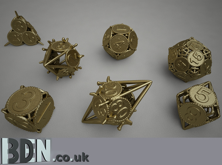 Swords and Shields D&D Dice set D8 3d printed Full set available