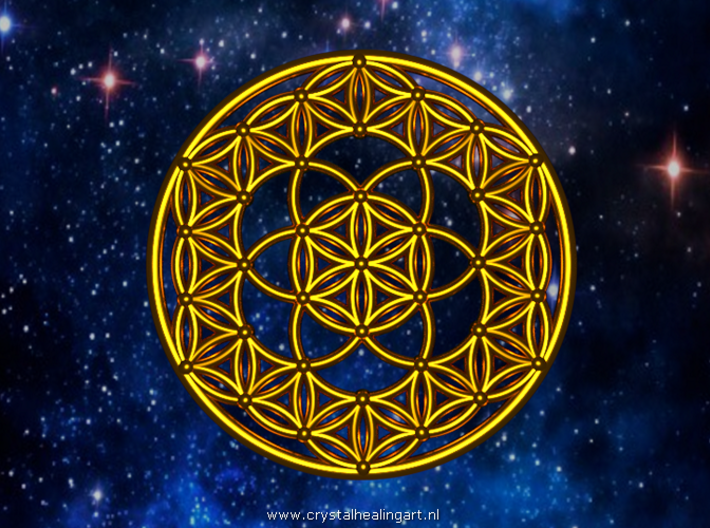 Seed Of Life - Flower Of Life 3d printed Artist impression of the seed of life