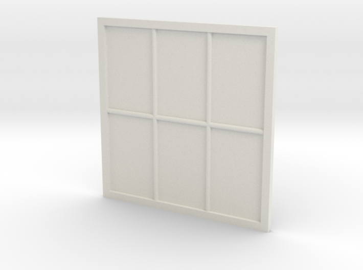 1:24 Scale Colonial Style Window 5' x 5' 3d printed