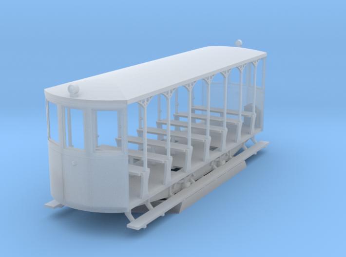 H0m BStB 262 Open Tram Trailer 3d printed