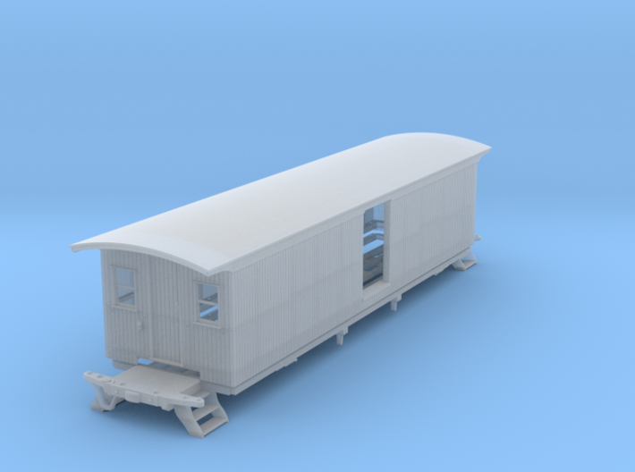 Milk Car 2 Door Windows S Scale 1/64 3d printed