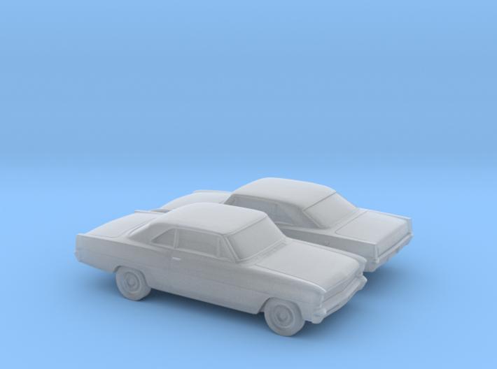 1/160 2X 1966 Chevrolet Nova Coupe 3d printed