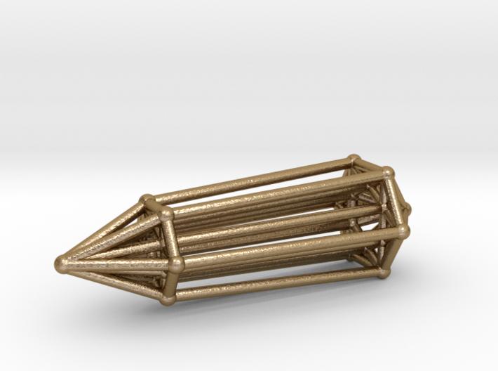 Phi Vogel Crystal - Inner Geometry - 6 sided 3d printed