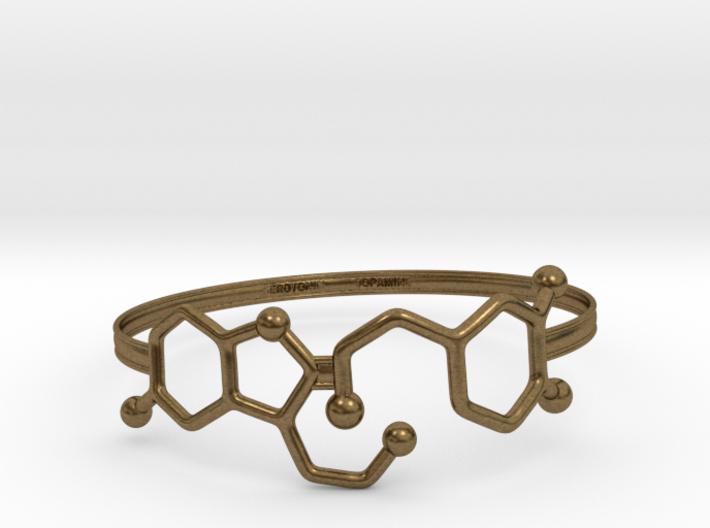 Serotonin Dopamine Bracelet Embossed 75mm 3d printed