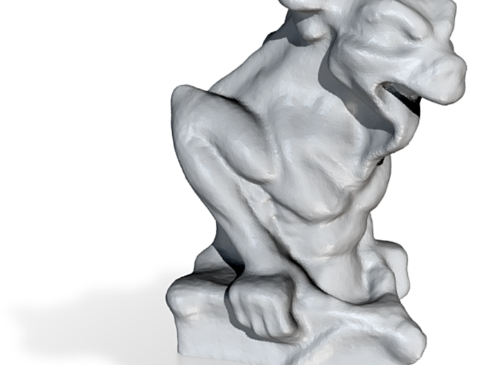 Lizzard Long Tongue Gargoyle 3d printed