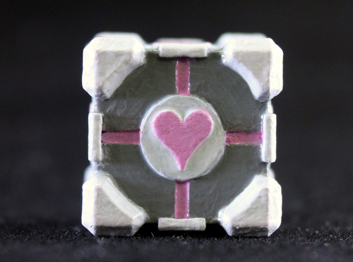 Companion Cube 3d printed Painted Frosted Ultra Detail