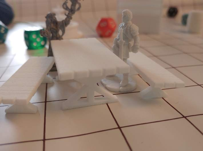 Tabletop: Trestle Table 3d printed