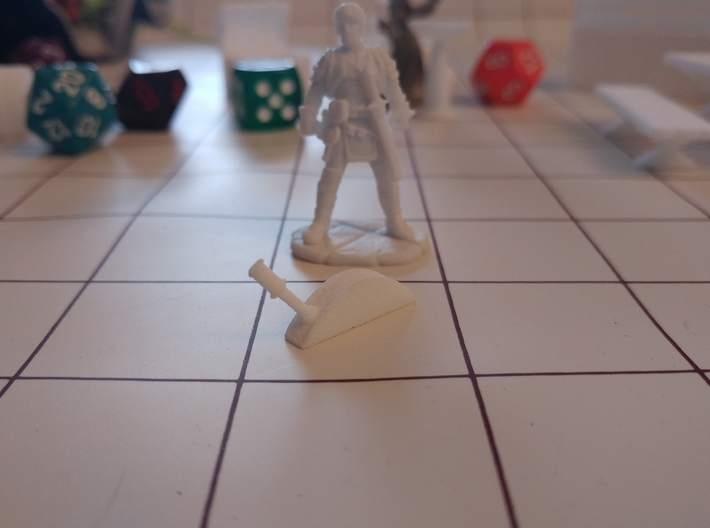 Tabletop: Basic Lever 3d printed