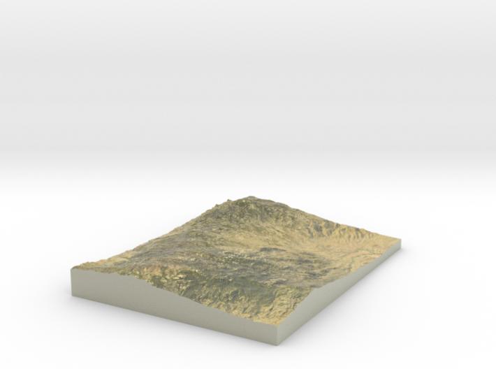 """Saguaro East Map - 8.5""""x11"""" 3d printed"""