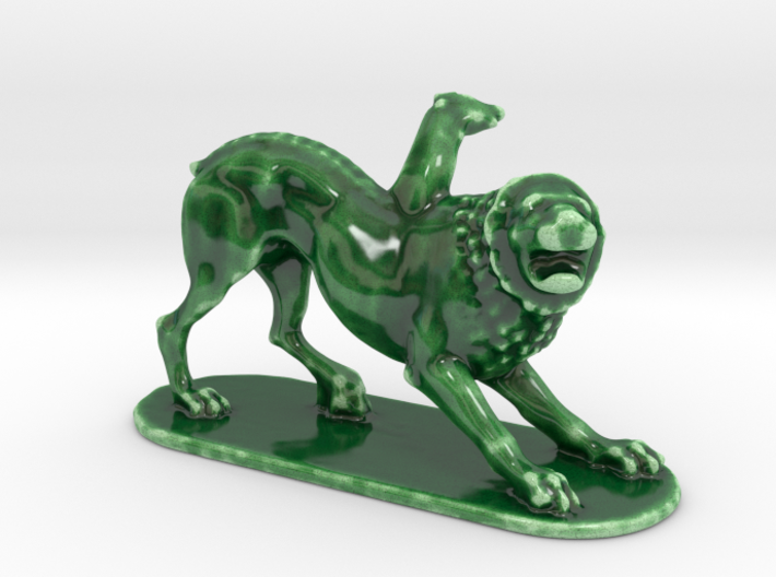 Scared Lion 3d printed