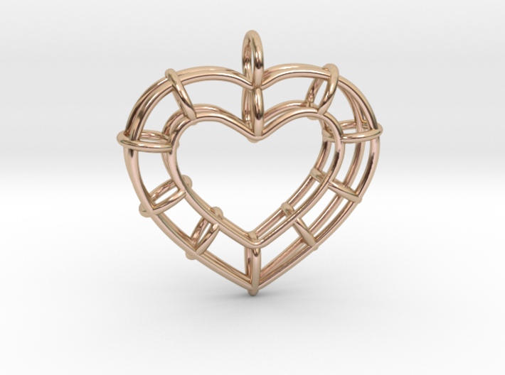 Truss Heart 3d printed