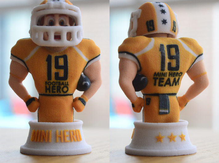 Mini football hero - version Orange 3d printed real 3d printed version