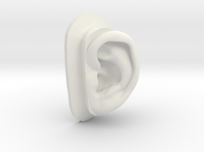 DIY Binaural Ear + Canal Anatomically Accurate - L 3d printed