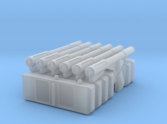 6 Sandman DS Guns and Trackers (Logan's Run) 1/18 3d printed