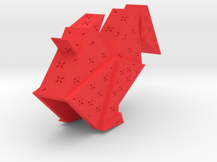 Origami Rooster 3d printed