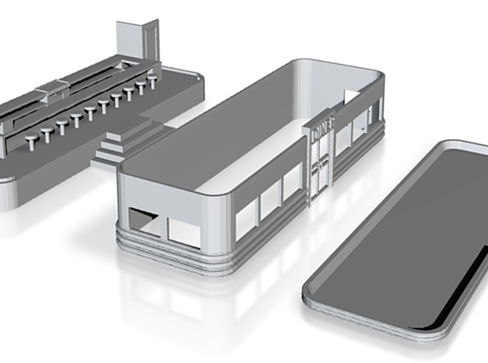 N-Scale Art Deco Diner (In Development) 3d printed