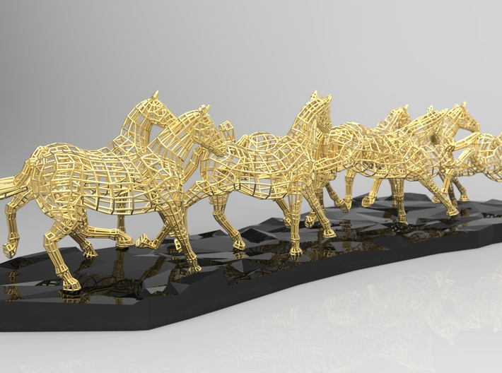 Year of the Horse - 8 Galloping Horses 3d printed