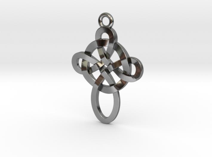 Celtic style pendant 3d printed