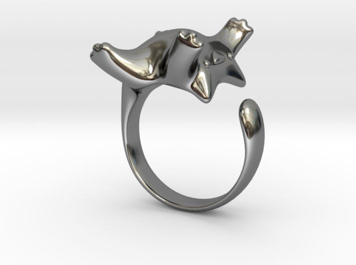 Cat Ring II -the lazy 3d printed