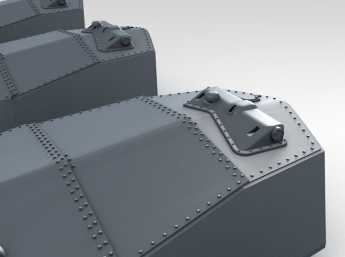 "1/700 RN WW1 13.5"" MKV Guns x5 HMS Iron Duke 3d printed 3d render showing rangefinder detail"