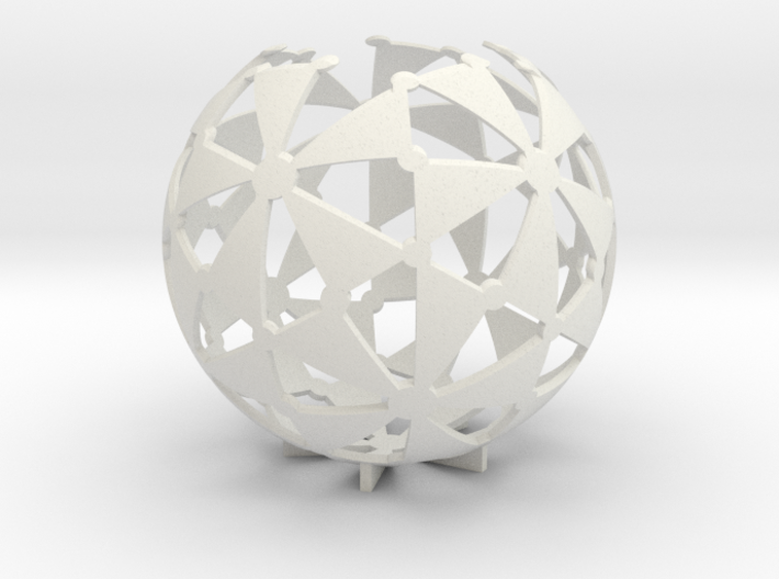 (5,3,2) triangle tiling (stereographic projection) 3d printed